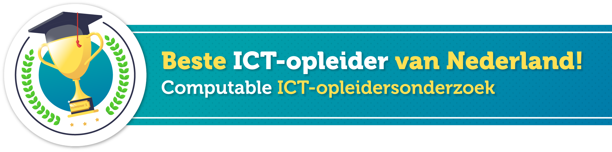 Ictivity beste ICT opleider badge