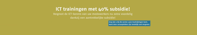 40% subsidie